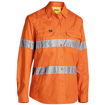 Bisley Womens 3M Taped Hi Vis X Airflow Ripstop