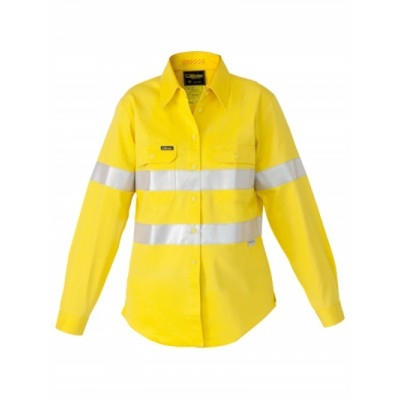 Bisley Womens 3M Taped Hi Vis Industrial Cool Vent