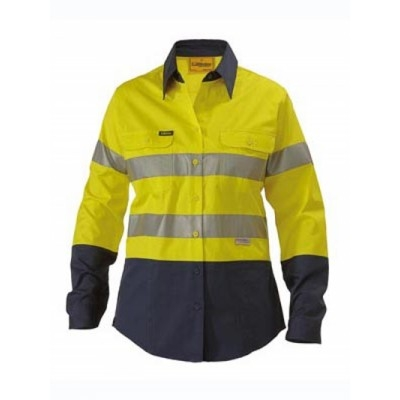 Bisley Womens 3M Taped Two Tone Hi Vis Cool Light