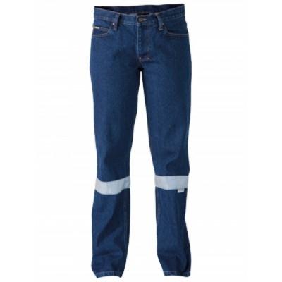 Bisley Womens 3M Taped Industrial Boot Leg Work Denim Jean