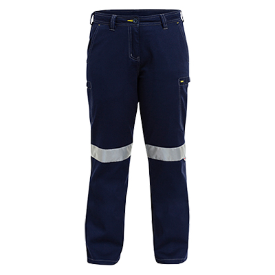 Bisley Womens 3M Taped Vented Cool Lightweight Cargo Pant With Contrast Stitching