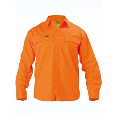 Bisley Hi Vis Drill Shirt - Long Sleeve
