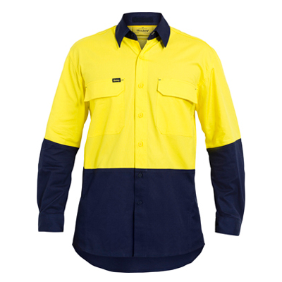 Bisley Two Tone Hi Vis X Airflow Ripstop Shirt - Long