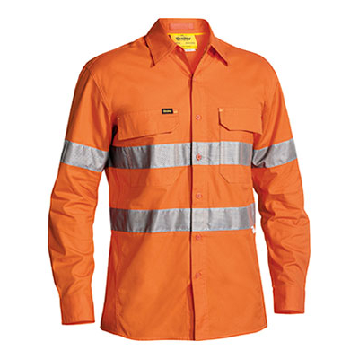 Bisley 3M Taped Hi Vis X Airflow Ripstop Shirt - Long