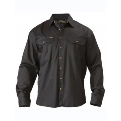 Bisley Original Cotton Drill Shirt - Long Sleeve