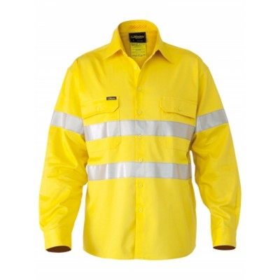 Bisley 3M Taped Hi Vis Industrial Cool Vent Shirt -