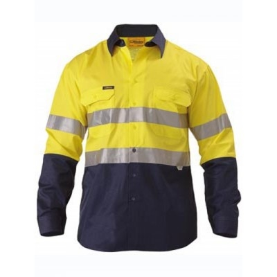 Bisley 3M Taped Two Tone Hi Vis Cool Lightweight