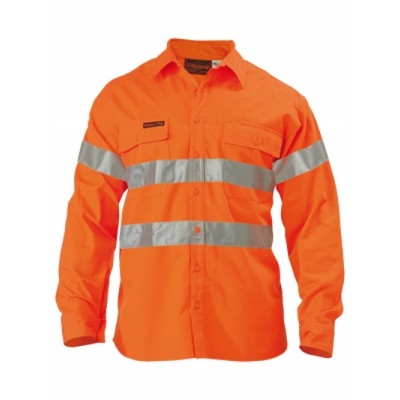 Bisley Westex Flame Retardant Ultrasoft 3M Taped Hi Vis Fr Shirt - Long Sleeve