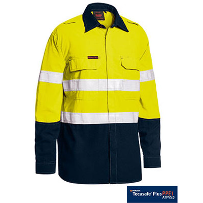 Bisley Tencate Flame Retardant Tecasafe Plus Taped  Two Tone Hi Vis