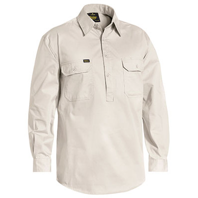Bisley Closed Front Cotton Light Weight Drill Shirt