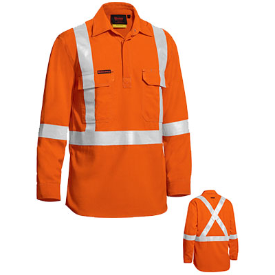Bisley Tencate Flame Retardant Tecasafe Plus Taped Hi Vis Lightweight Fr Non Vented Engineered Coverall Wit