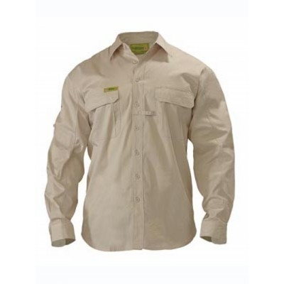 Bisley Insect Protection Two Tone Hi Vis Shirt -  Long Sleeve