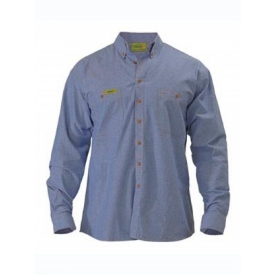 Bisley Insect Protection Chambray Shirt - Long Sleeve