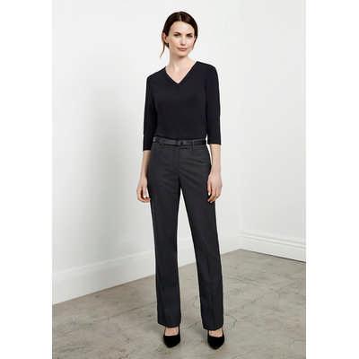 Ladies Classic Flat Front Pant (BS29320_BIZ)
