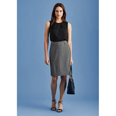 Womens Panelled Skirt with Rear Split (20316_BZC)