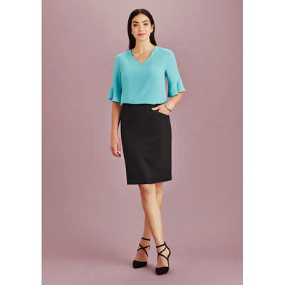 Womens Bandless Pencil Skirt (20717_BZC)