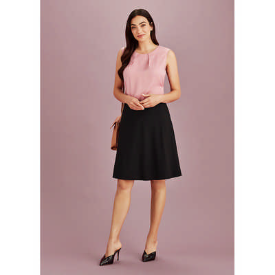 Womens Bandless Flared Skirt (20718_BZC)