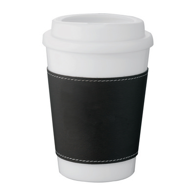 Double-Walled White Tumbler - Black Slee