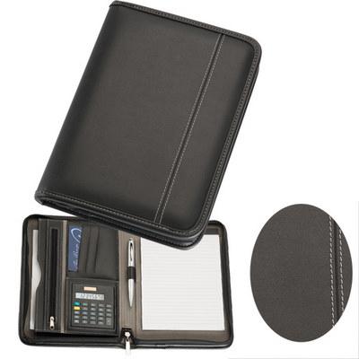 A5 Zippered Compendium with Calculator