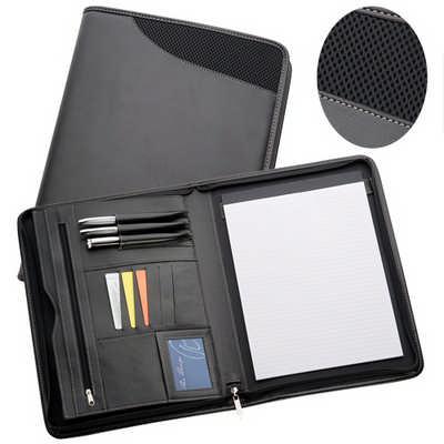 A4 Non-Leather Compendium - Black