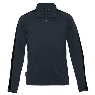 Merino Contrast Insert Pullover - Mens