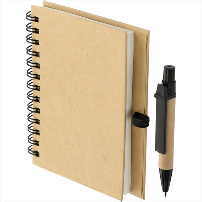 4    x 5    Eco Stone Notebook with Pen (SM-3591_BUL)