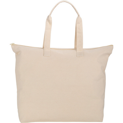 10 oz. Basic Cotton Canvas Zippered Tote (SM-7065_BUL)