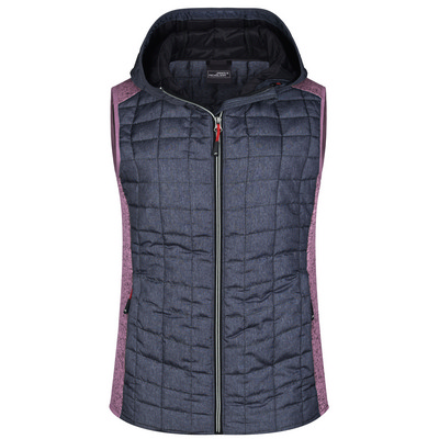 James & Nicholson  Ladies Knitted Hybrid Vest (JN767_C3)