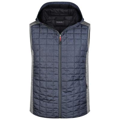 James & Nicholson  Mens Knitted Hybrid Vest (JN768_C3)
