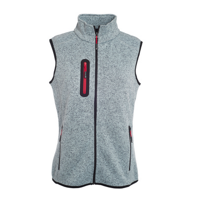 James & Nicholson Ladies Knitted Fleece Vest (JN773_C3)