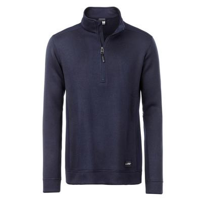 James & Nicholson Mens Knitted Workwear Fleece Half-Zip (JN864-XS-3XL_C3)