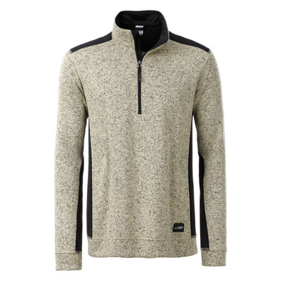 James & Nicholson Mens Knitted Workwear Fleece Half-Zip (JN864-4-6XL_C3)