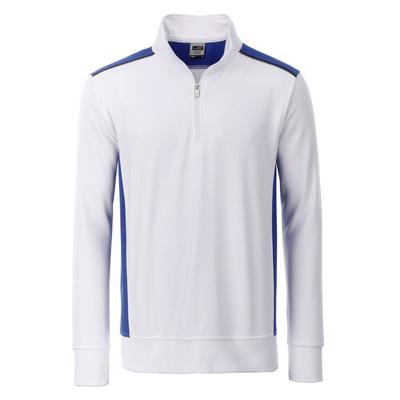 James & Nicholson Workwear Half-Zip Sweat-Level 2 (JN868-XS-3XL_C3)