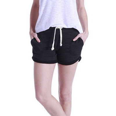 WOMENS CASUAL FRENCH TERRY SWEAT SHORTS (US355_C3)