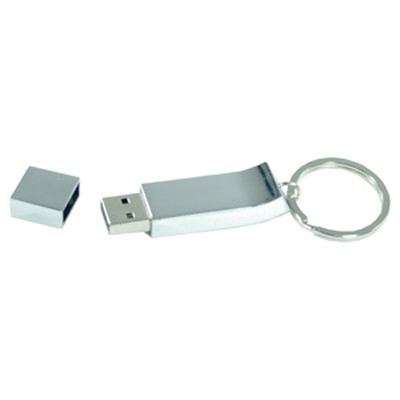 Chrome Keyring Flash Drive 16GB