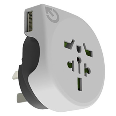 World to Australia Travel Adaptor with USB (AR890U_CAPR)