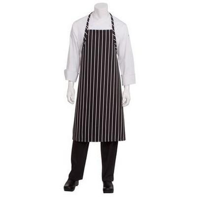 Black Chalkstripe Adjustable Chefs Apron