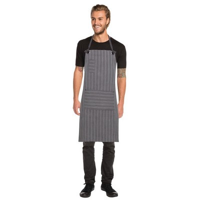 Brooklyn BlackGrey Bib Apron