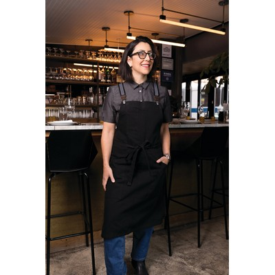 Berkeley Jet Black Bib Apron