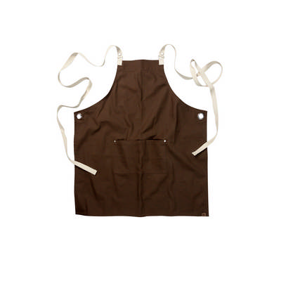 Byron Cross-Back Brown Apron