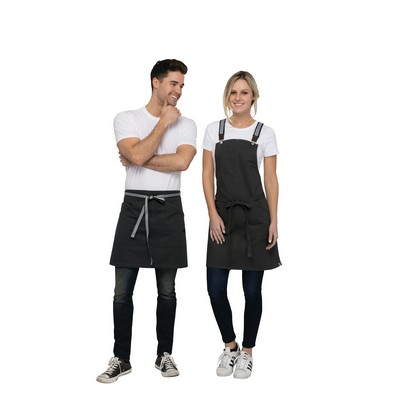 Berkeley Jet Black Half Apron