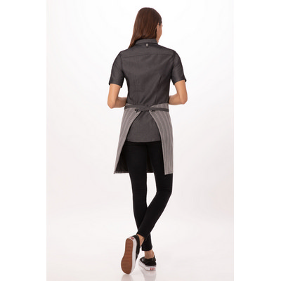 Brooklyn BlackGrey Half Apron