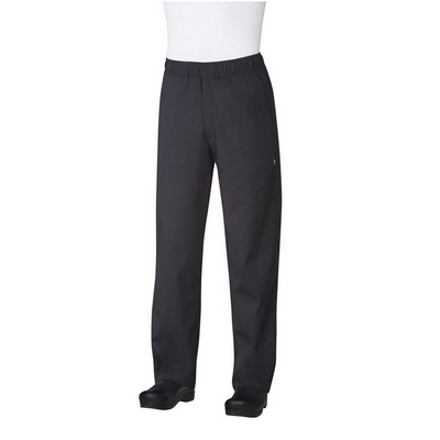 Black Lightweight Baggy Chef Pants