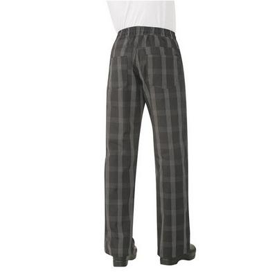 Black Plaid Better Built Baggy Chef Pants