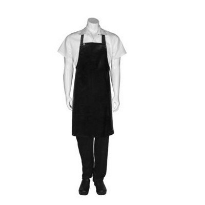 Black Short PVC Bib Apron