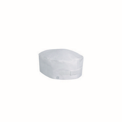 Double Rimmed White Chef Beanie