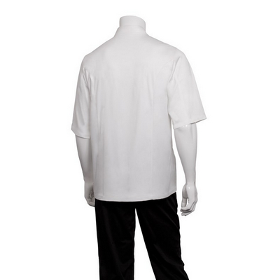 Capri White 100% Cotton Chef Jacket