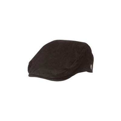 Black Cotton Twill Drivers Cap