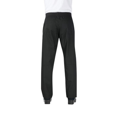 Lightweight Black Slim Fit Chef Pants