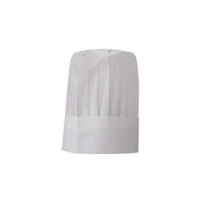 Oval Top Pleated Chef Hat - 12